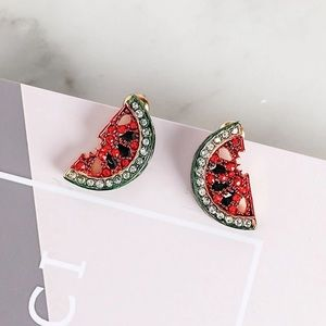 🍉 Watermelon Rhinestone Earrings 🍉
